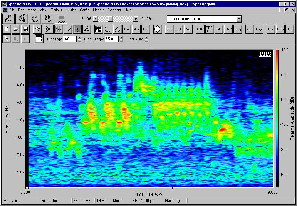 Screenshots : Spectrogram : Spectrum Analyzer : SpectraPlus com